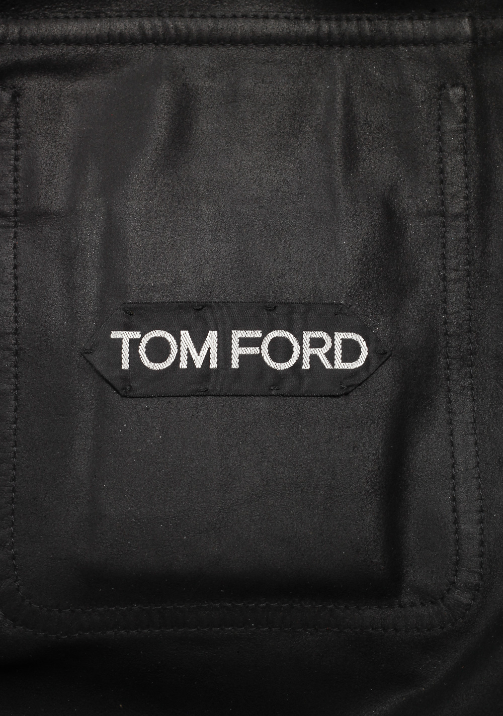 TOM FORD Black Leather Suede Jacket Coat Size 54 / 44R U.S. | Costume Limité