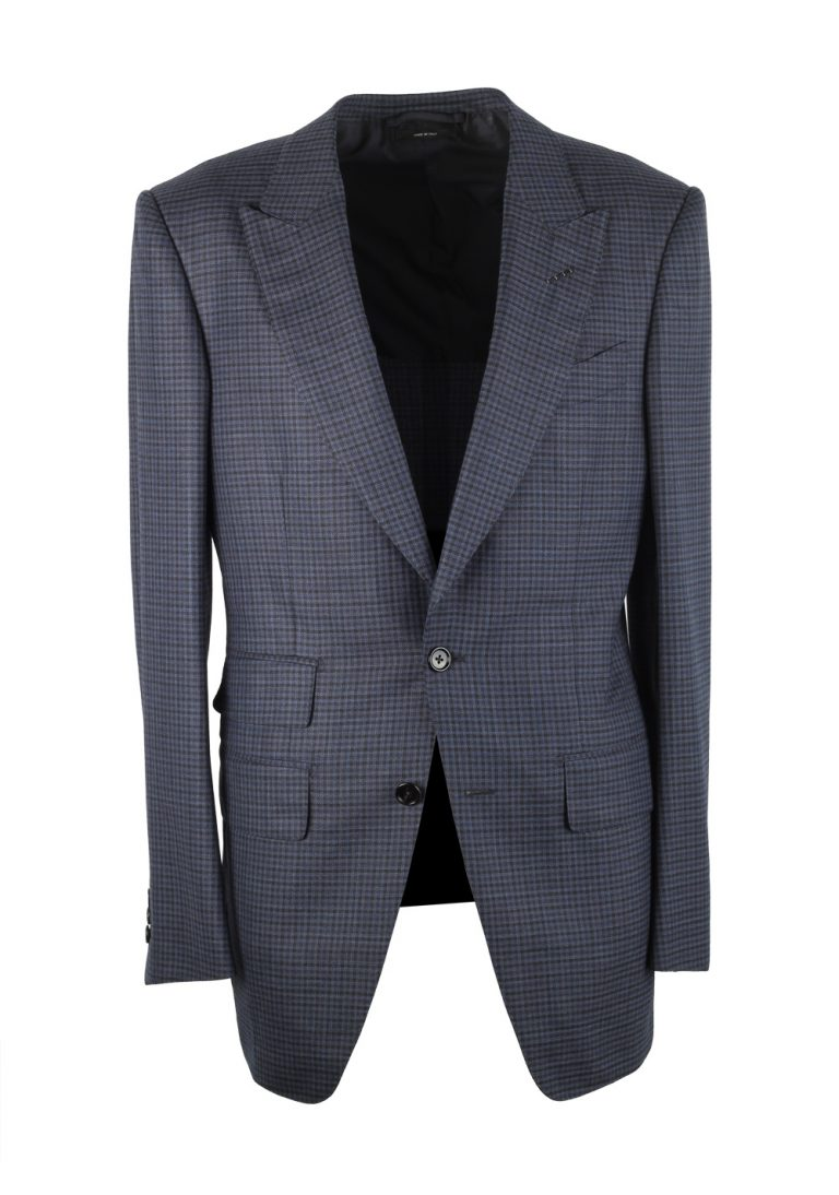 TOM FORD Atticus Blue Checked Suit Size 46 / 36R U.S. - thumbnail | Costume Limité
