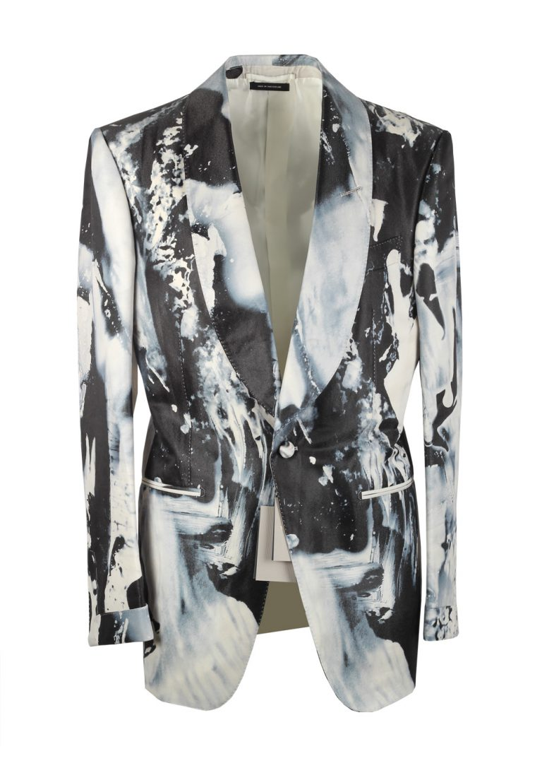 TOM FORD Atticus Painted Swirl Tuxedo Cocktail Dinner Jacket Size 52 / 42R U.S. - thumbnail | Costume Limité