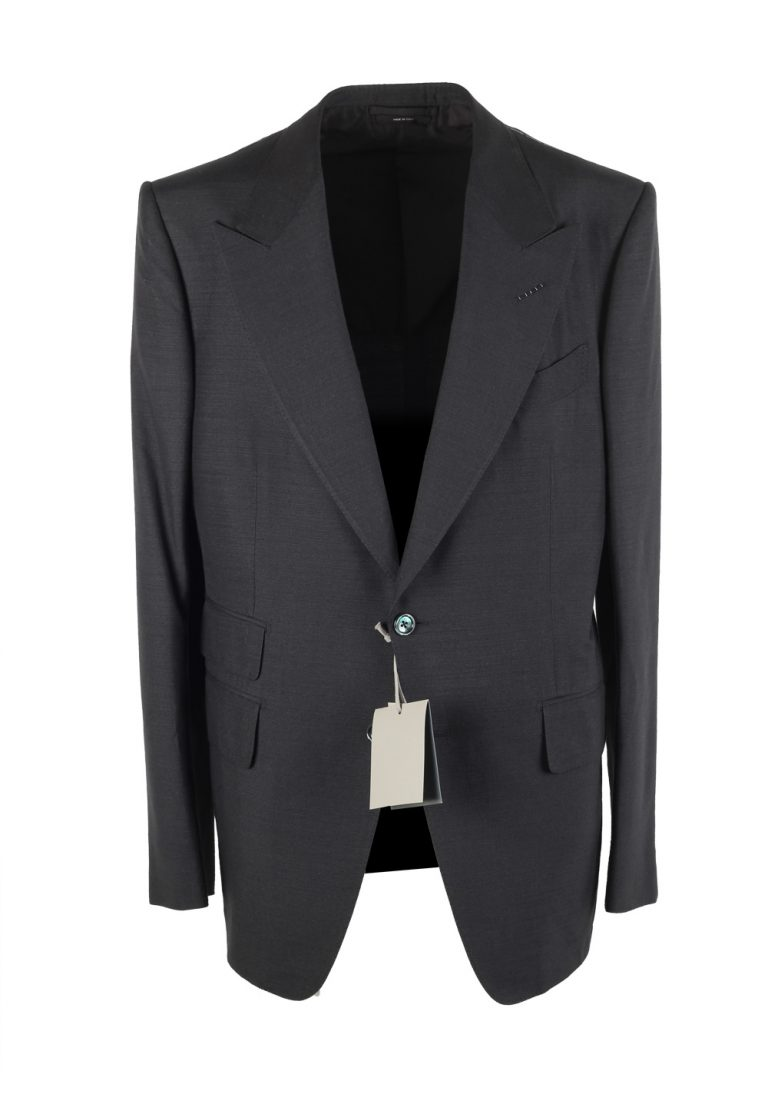 TOM FORD Shelton Gray Sport Coat Size 52 / 42R U.S. In Silk - thumbnail | Costume Limité
