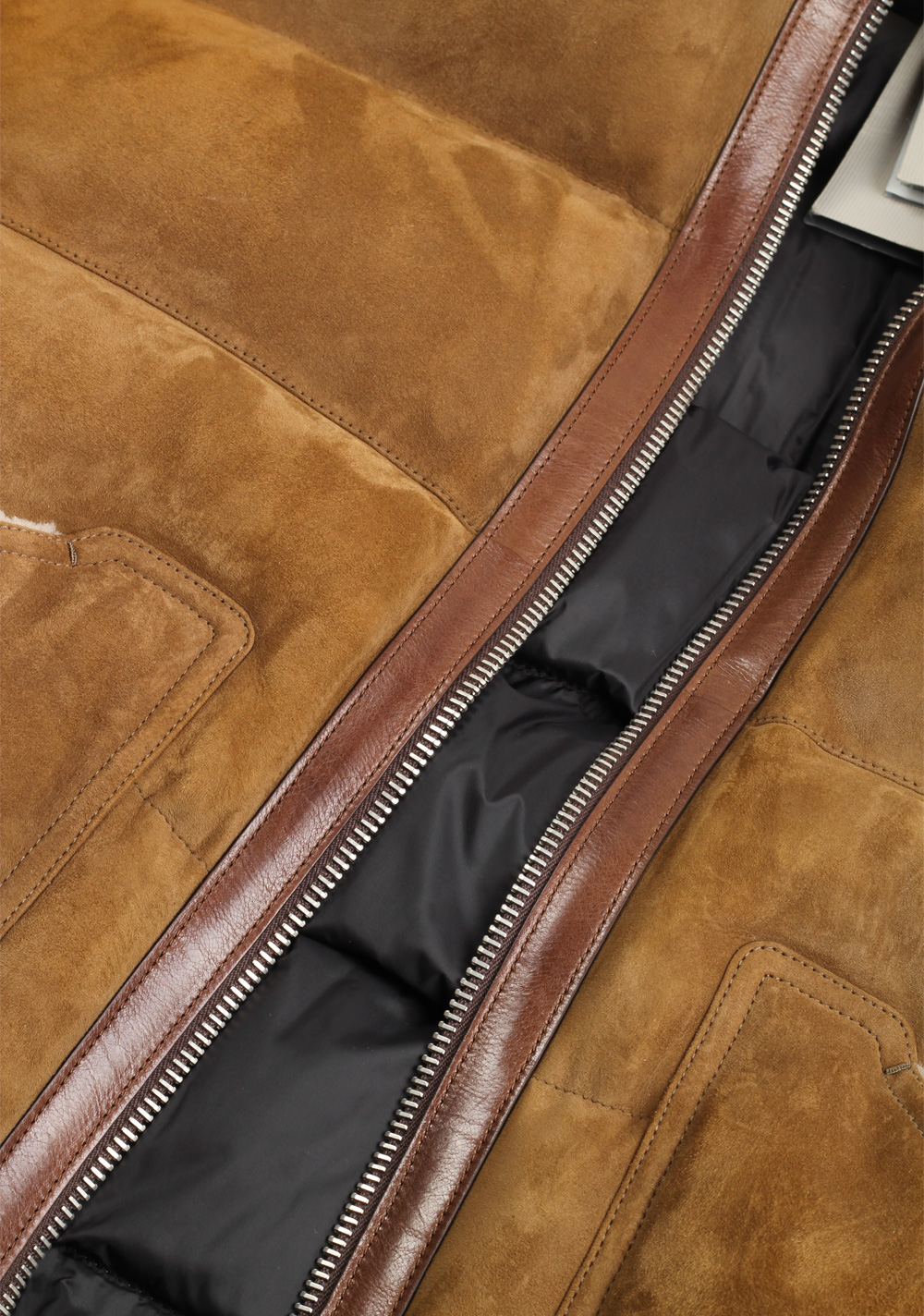 TOM FORD Brown Shearling Quilted Lamb Suede Gilet Size 50 / 40R U.S. | Costume Limité