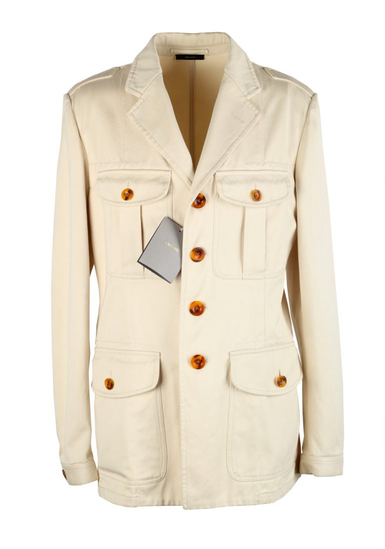 TOM FORD Beige Military Safari Coat Size 52 / 42R U.S. Outerwear - thumbnail | Costume Limité