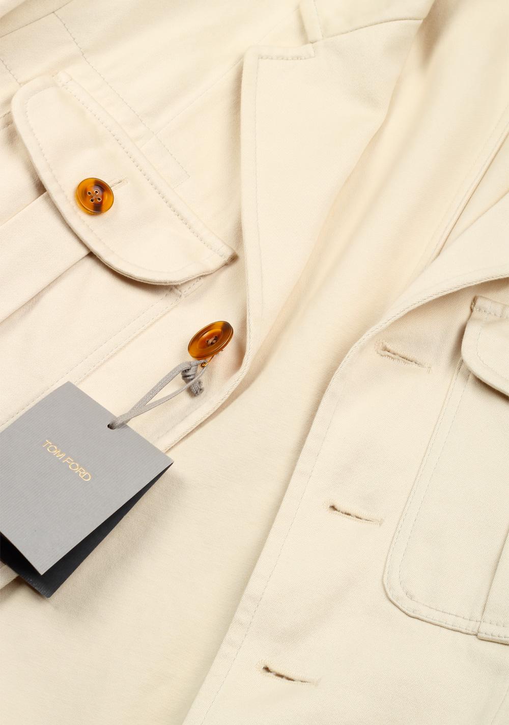 TOM FORD Beige Military Safari Coat Size 52 / 42R U.S. Outerwear | Costume Limité