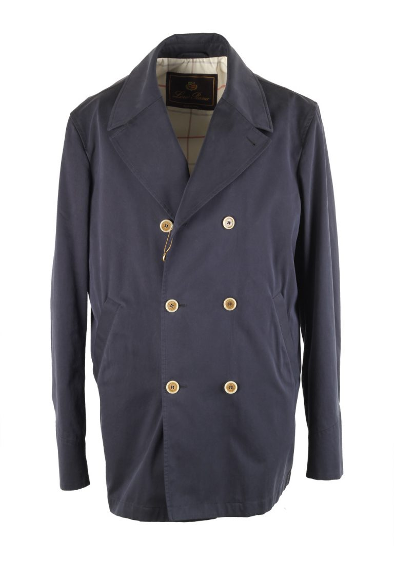 Loro Piana Blue Double Breasted Coat Size L / 42 U.S. Outerwear - thumbnail | Costume Limité