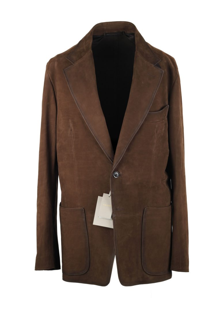 TOM FORD Brown Cashmere Sartorial Leather Suede Jacket Coat Size 48 / 38R U.S. - thumbnail | Costume Limité