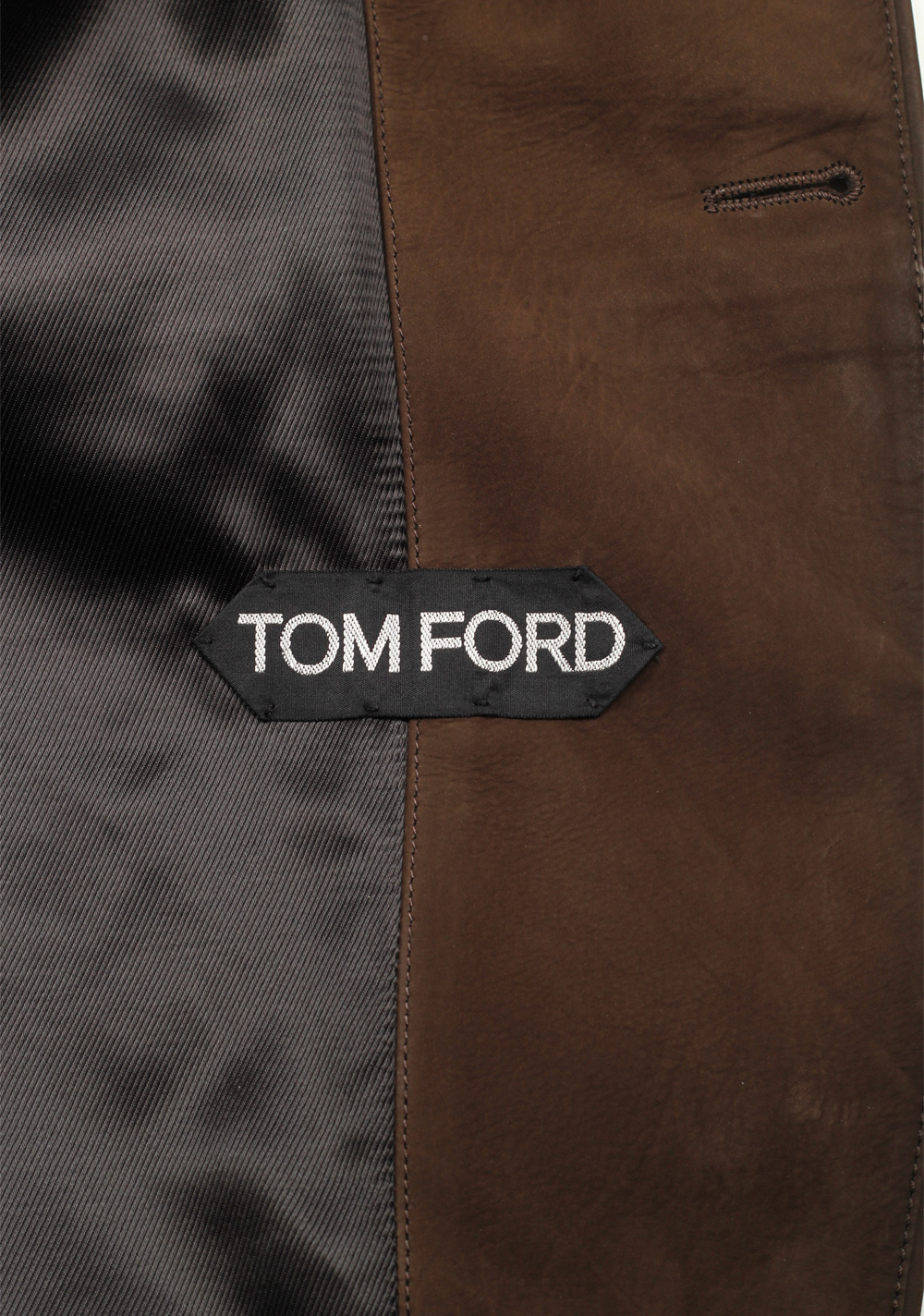 TOM FORD Brown Cashmere Sartorial Leather Suede Jacket Coat Size 48 / 38R U.S. | Costume Limité