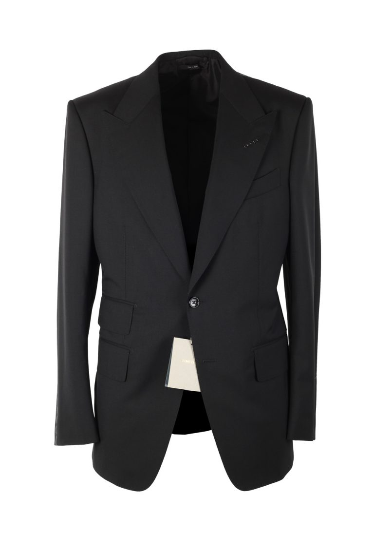 TOM FORD Windsor Signature Solid Black Size 44 / 34R U.S. Wool Fit A - thumbnail | Costume Limité