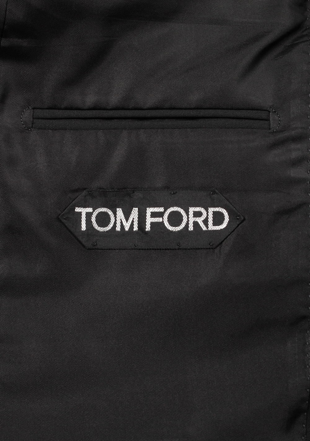 TOM FORD Windsor Signature Solid Black Size 44 / 34R U.S. Wool Fit A | Costume Limité