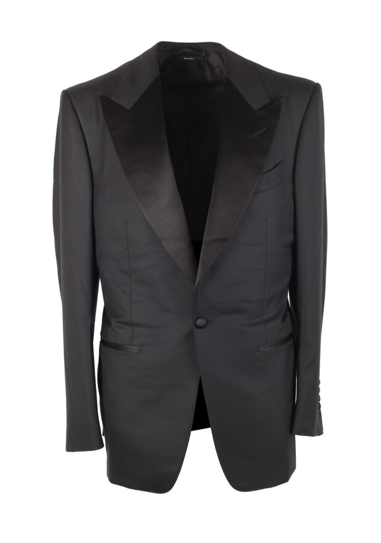 TOM FORD Windsor Black Tuxedo Suit Smoking Size 48 / 38R U.S. Fit A - thumbnail | Costume Limité