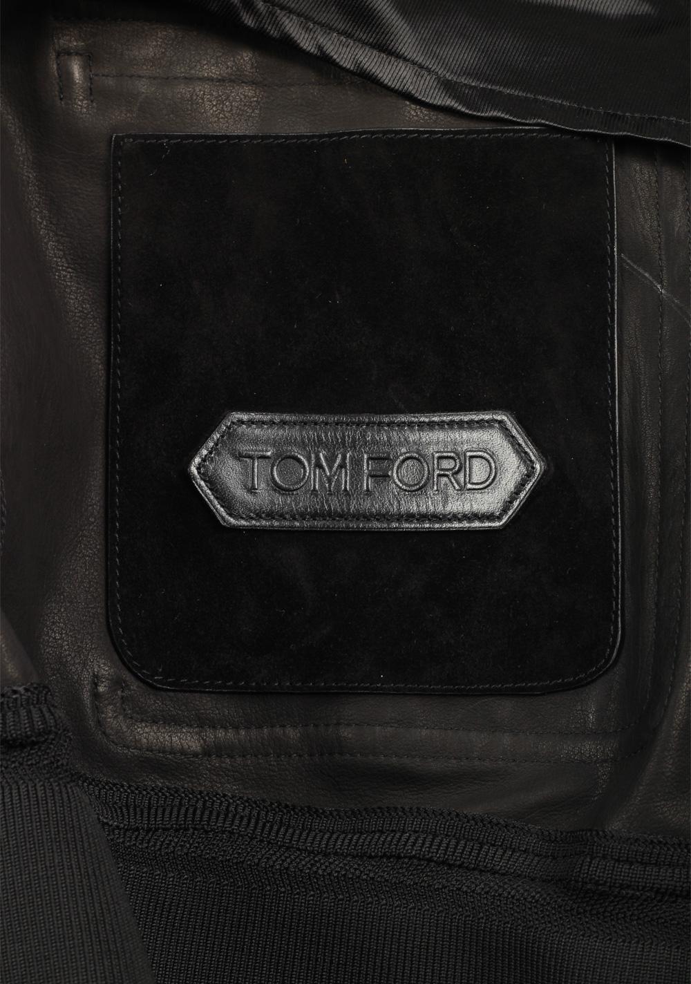 TOM FORD Black Cashmere Suede Bomber Jacket Coat Size 48 / 38R U.S. Outerwear   Costume Limité