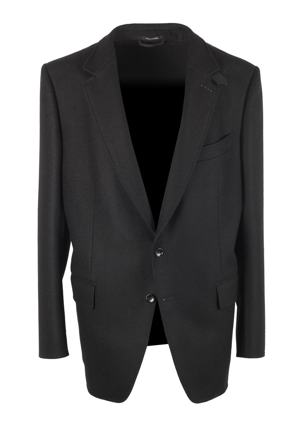 TOM FORD Atticus Black Sport Coat Size 56 / 46R U.S. In Wool | Costume Limité