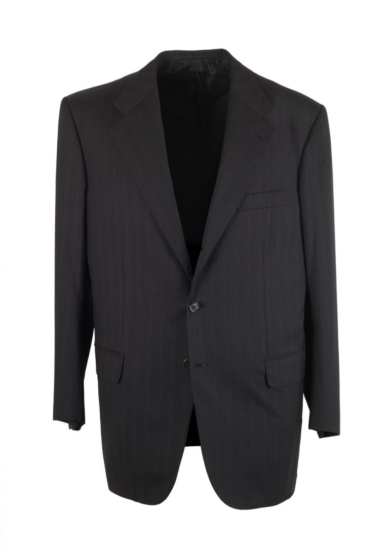 Brioni Colosseo Charcoal Suit Size 50 / 40R U.S. In Wool Super 200s - thumbnail | Costume Limité