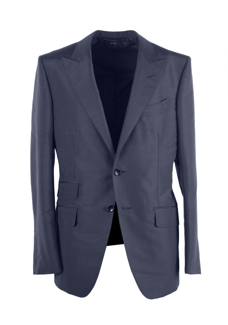 TOM FORD O'Connor Blue Suit Size 48 / 38R U.S. Mohair Silk Fit Y - thumbnail | Costume Limité