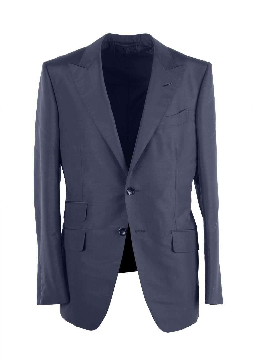 TOM FORD O'Connor Blue Suit Size 48 / 38R U.S. Mohair Silk Fit Y | Costume Limité