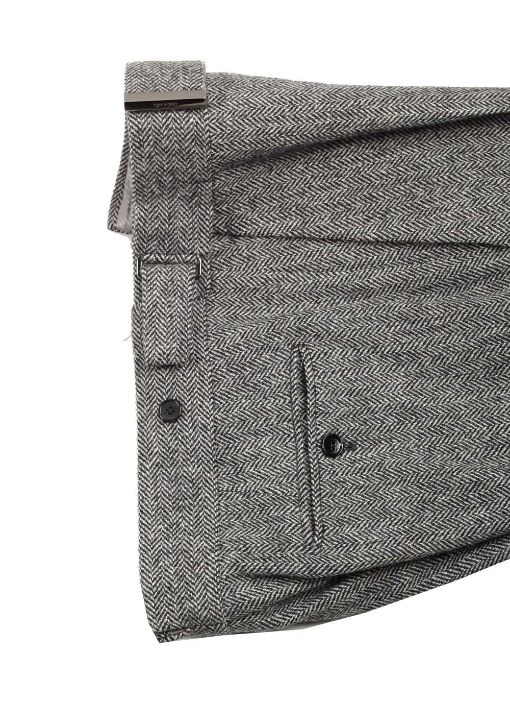 TOM FORD Atticus Gray Herringbone Suit Size 46 / 36R U.S. | Costume Limité