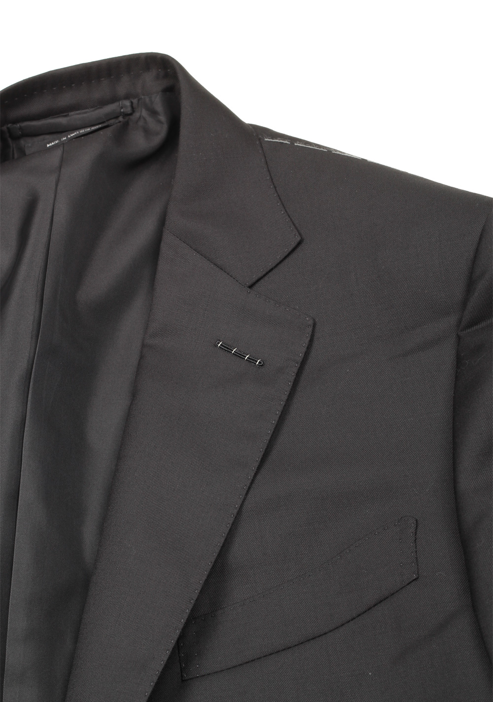 TOM FORD O'Connor Black Suit Size 48 / 38R U.S. In Wool Fit Y | Costume Limité