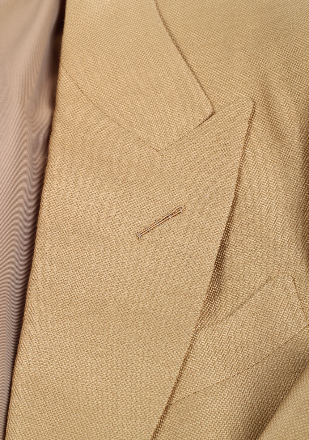 TOM FORD Shelton Silk Sand Sport Coat   Costume Limité