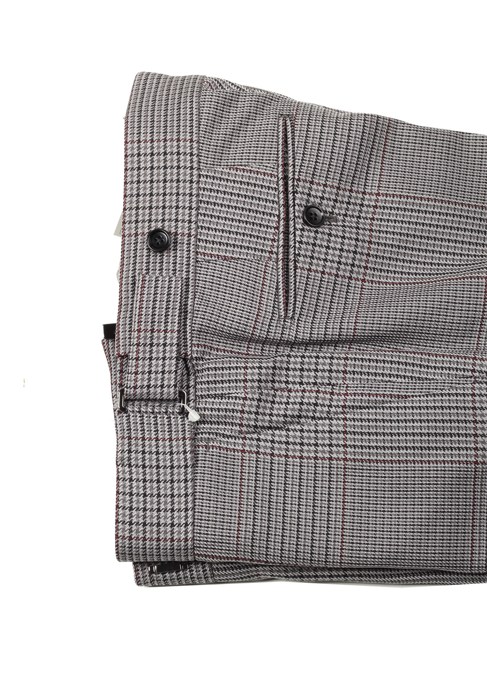 TOM FORD Atticus Gray Checked Suit Size 46 / 36R U.S. In Silk | Costume Limité