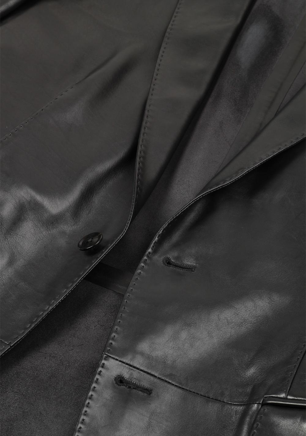 TOM FORD Black Nappa Leather Jacket Coat Size 48 / 38R U.S. | Costume Limité