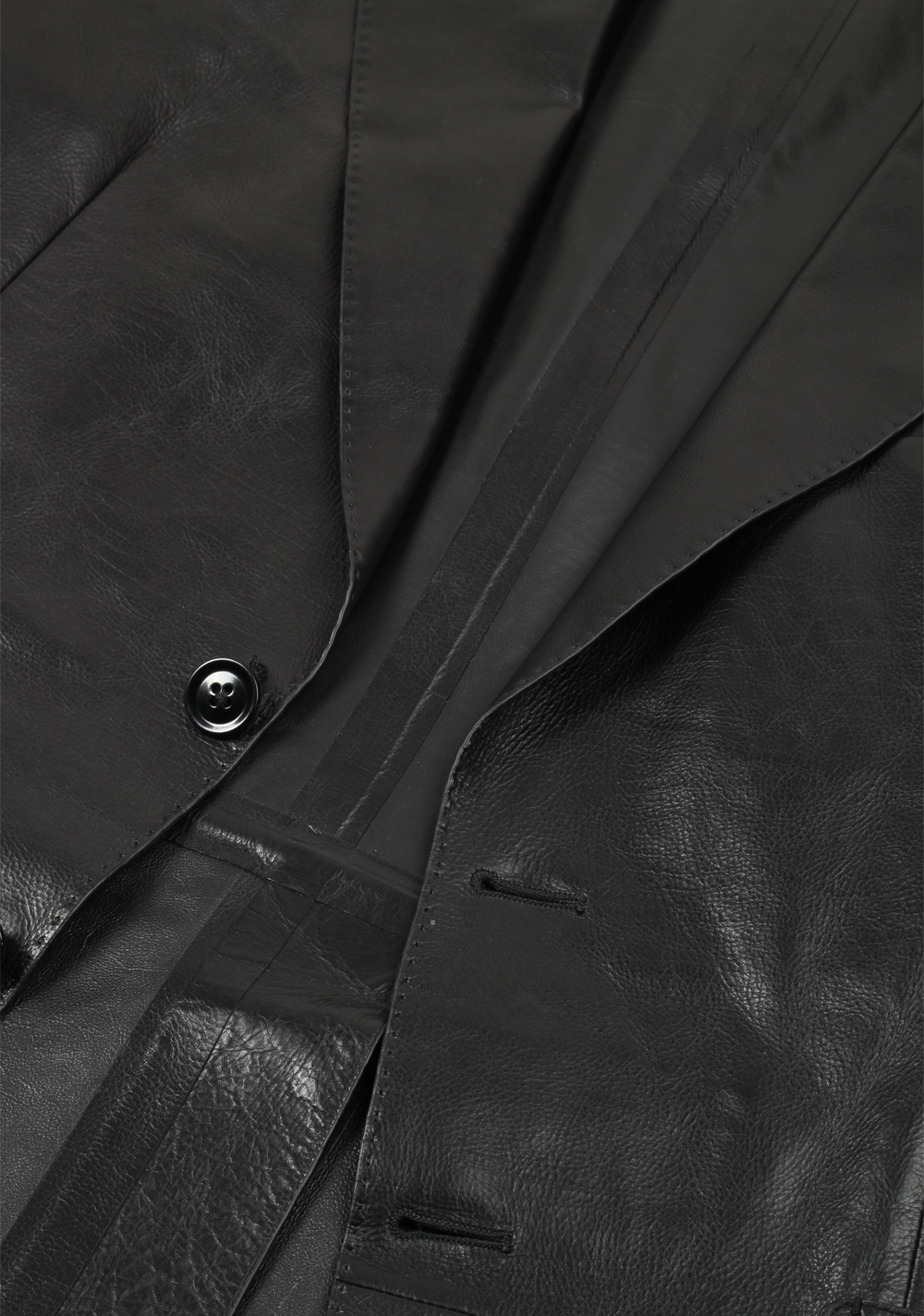 TOM FORD Black Leather Jacket Coat Size 48 / 38R U.S. | Costume Limité
