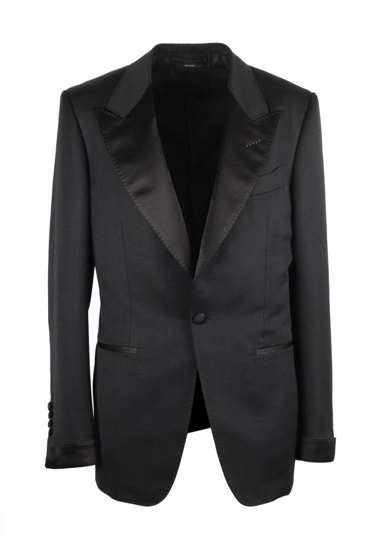 TOM FORD Shelton Black Tuxedo Dinner Suit Size 50C / 40S U.S. - thumbnail | Costume Limité