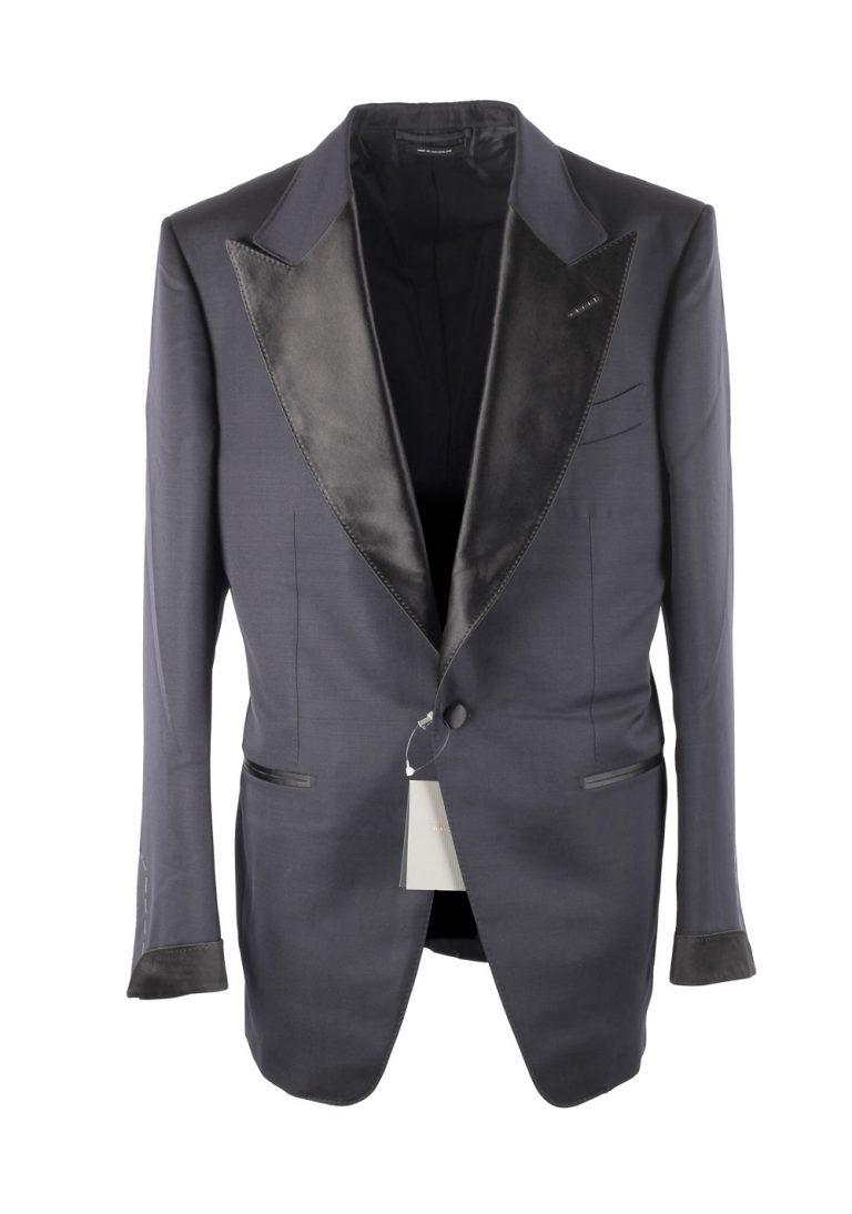 TOM FORD Shelton Midnight Blue Tuxedo Smoking Suit Size 52 / 42R U.S. - thumbnail | Costume Limité