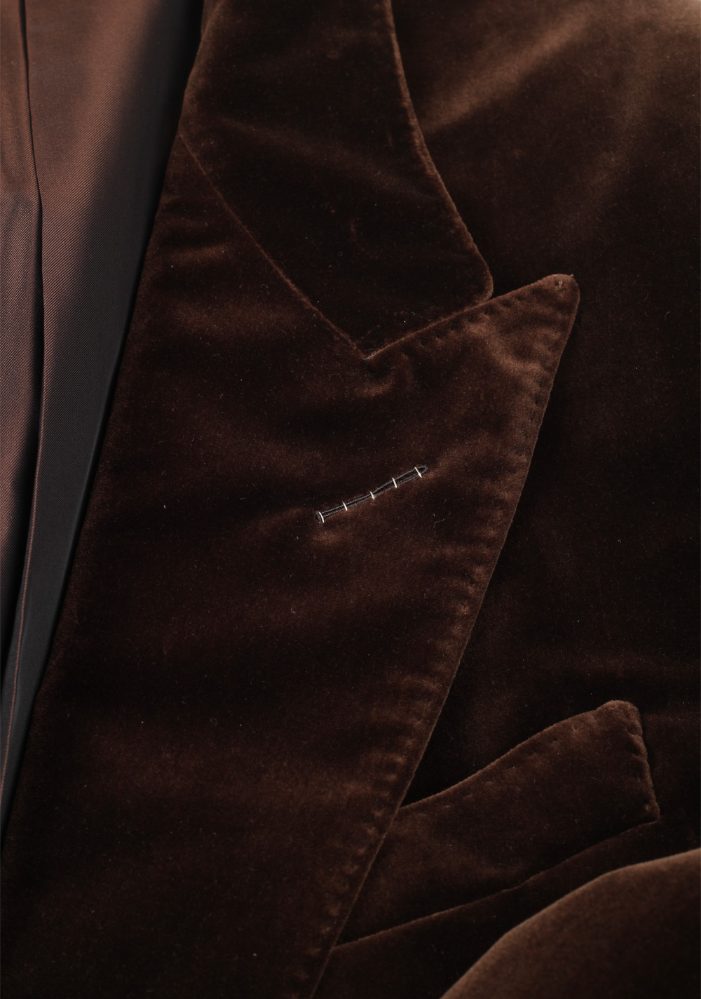 TOM FORD Shelton Velvet Brown Sport Coat Size 54 / 44R Cotton | Costume Limité