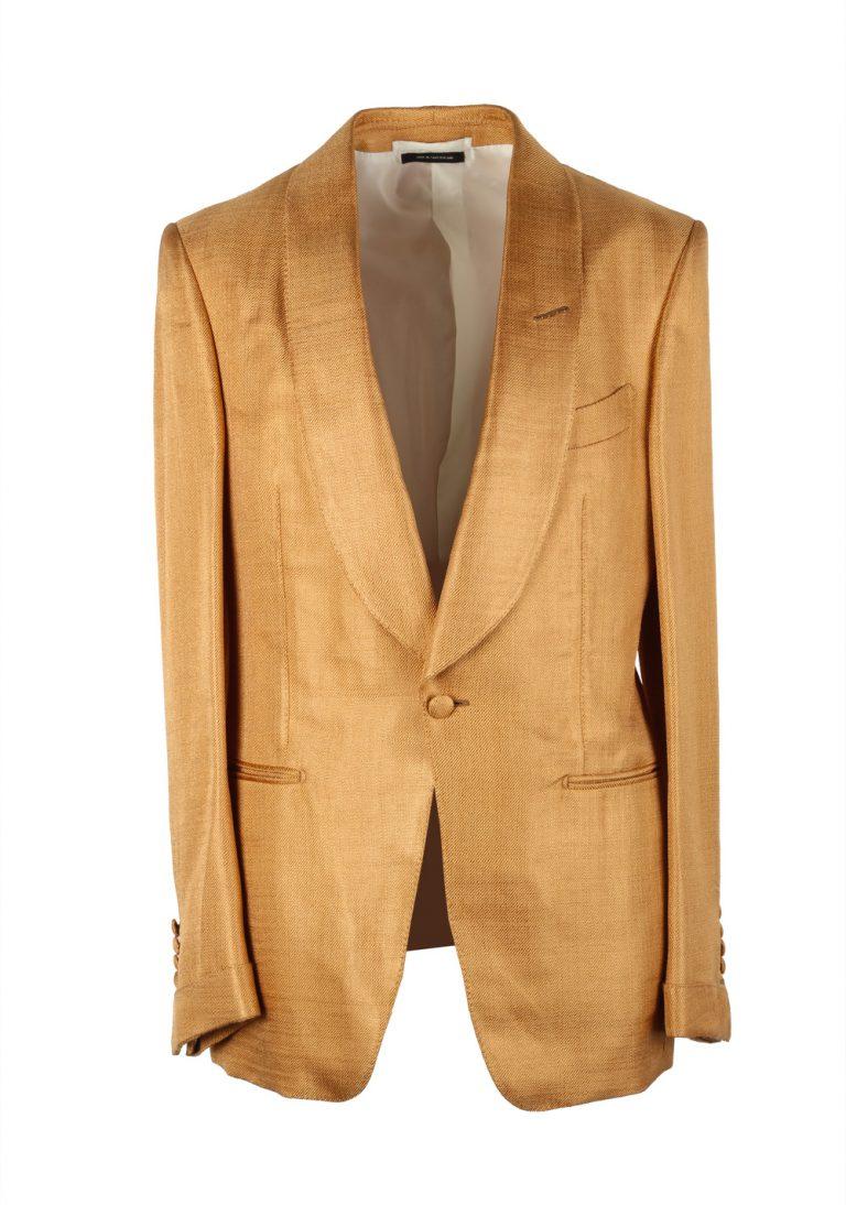 TOM FORD Shelton Gold Sport Coat Tuxedo Dinner Jacket Size Size 48 / 38R U.S. - thumbnail | Costume Limité