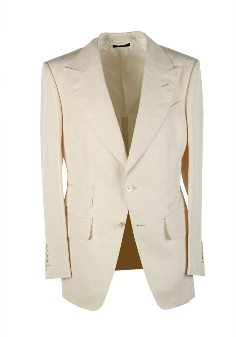 TOM FORD Atticus Off White Suit Size 46 / 36R U.S. In Silk Blend - thumbnail | Costume Limité