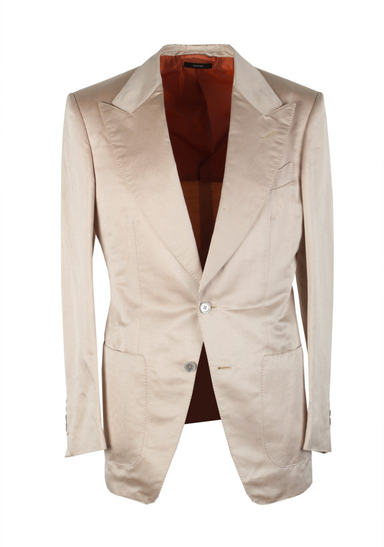 TOM FORD Atticus Off White Suit Size 46 / 36R U.S. In Linen Silk - thumbnail | Costume Limité