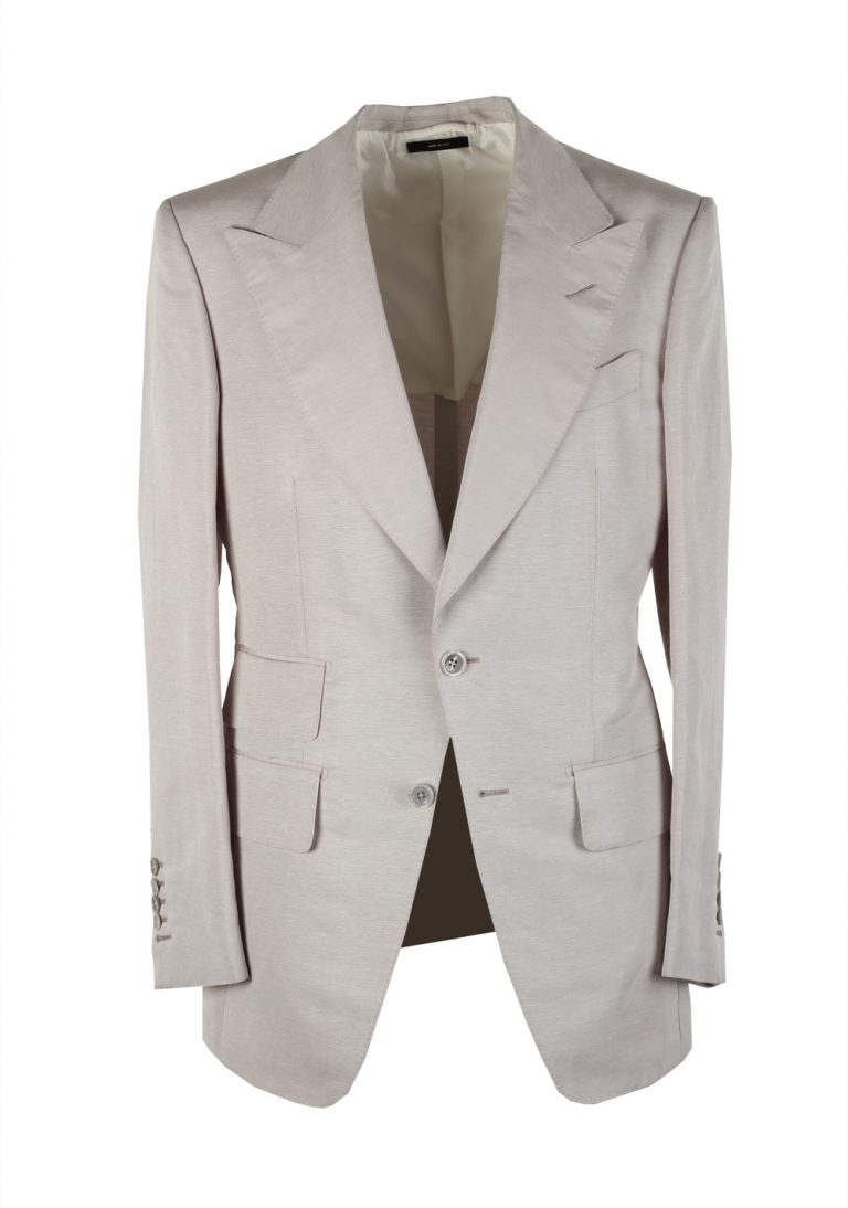 TOM FORD Atticus Lavender Suit Size 46 / 36R U.S. In Linen Silk - thumbnail | Costume Limité