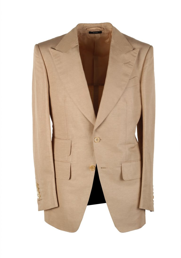 TOM FORD Atticus Sand Suit Size 46 / 36R U.S. In Linen Silk - thumbnail | Costume Limité