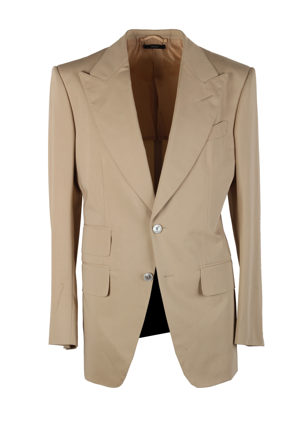 TOM FORD Atticus Sand Suit Size 46 / 36R U.S. In Cotton | Costume Limité