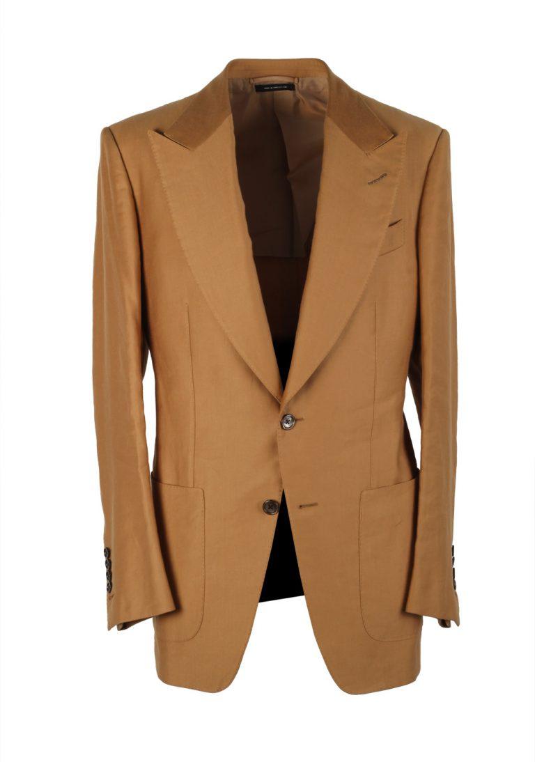 TOM FORD Atticus Sand Suit Size 46 / 36R U.S. In Cotton Linen - thumbnail | Costume Limité