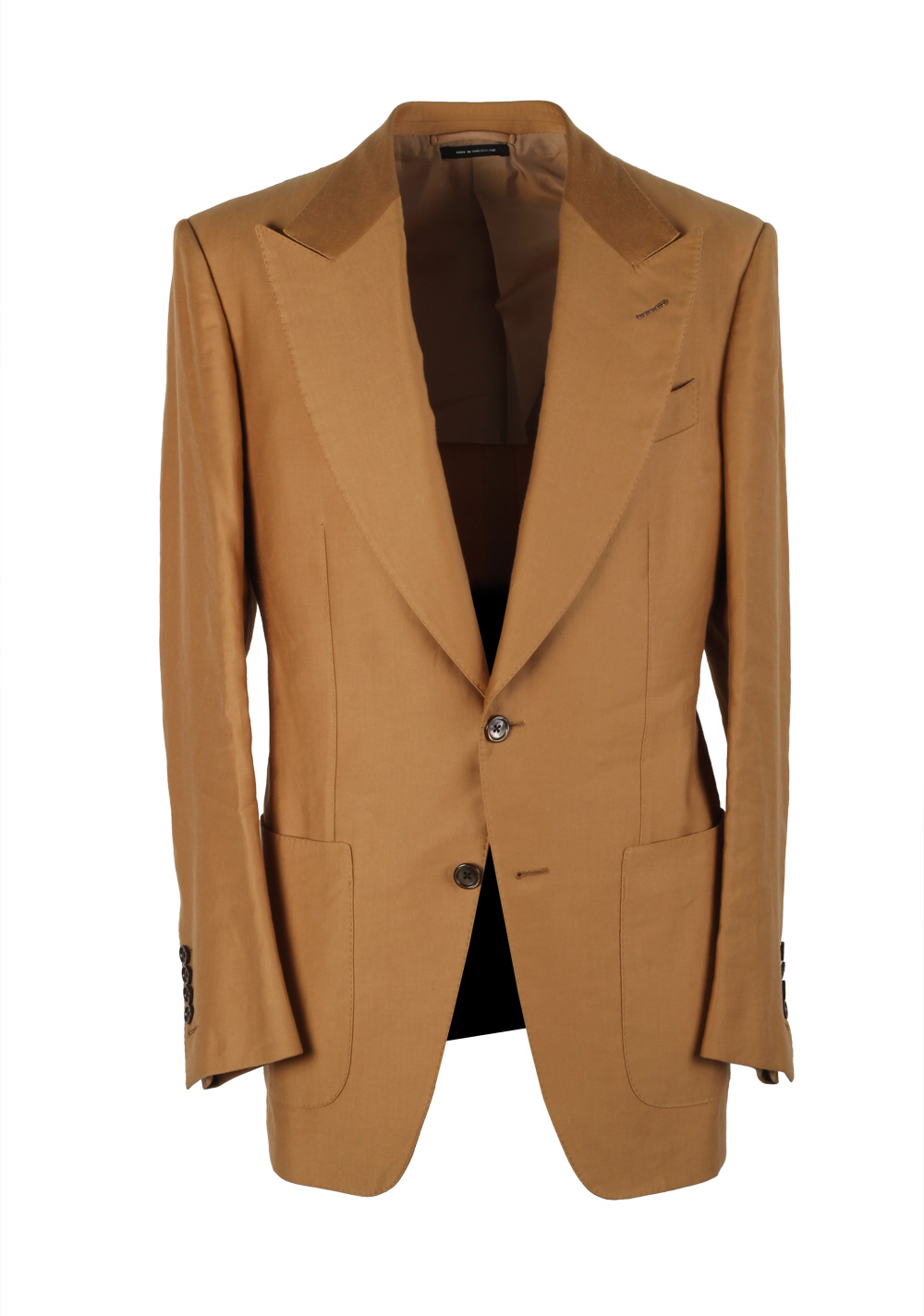 TOM FORD Atticus Sand Suit Size 46 / 36R U.S. In Cotton Linen | Costume Limité
