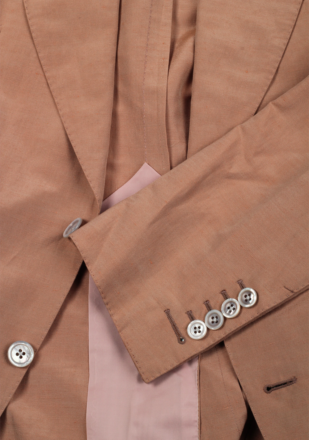 TOM FORD Atticus Brown Suit Size 46 / 36R U.S. In Silk Linen | Costume Limité
