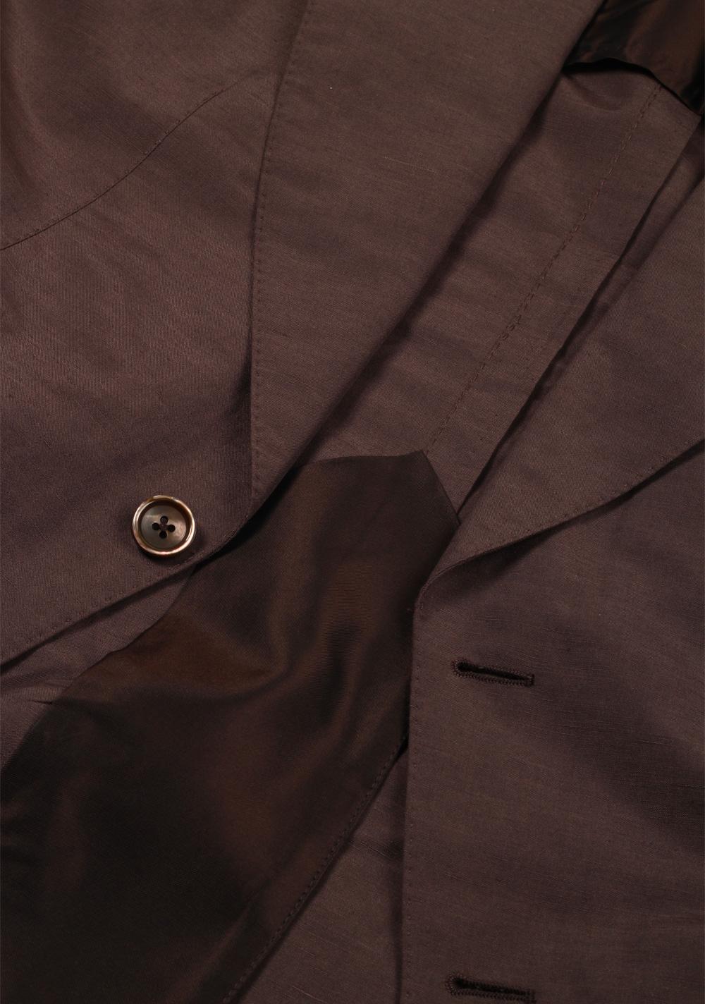 TOM FORD Atticus Brown Suit Size 46 / 36R U.S. In Silk Linen | Costume Limité