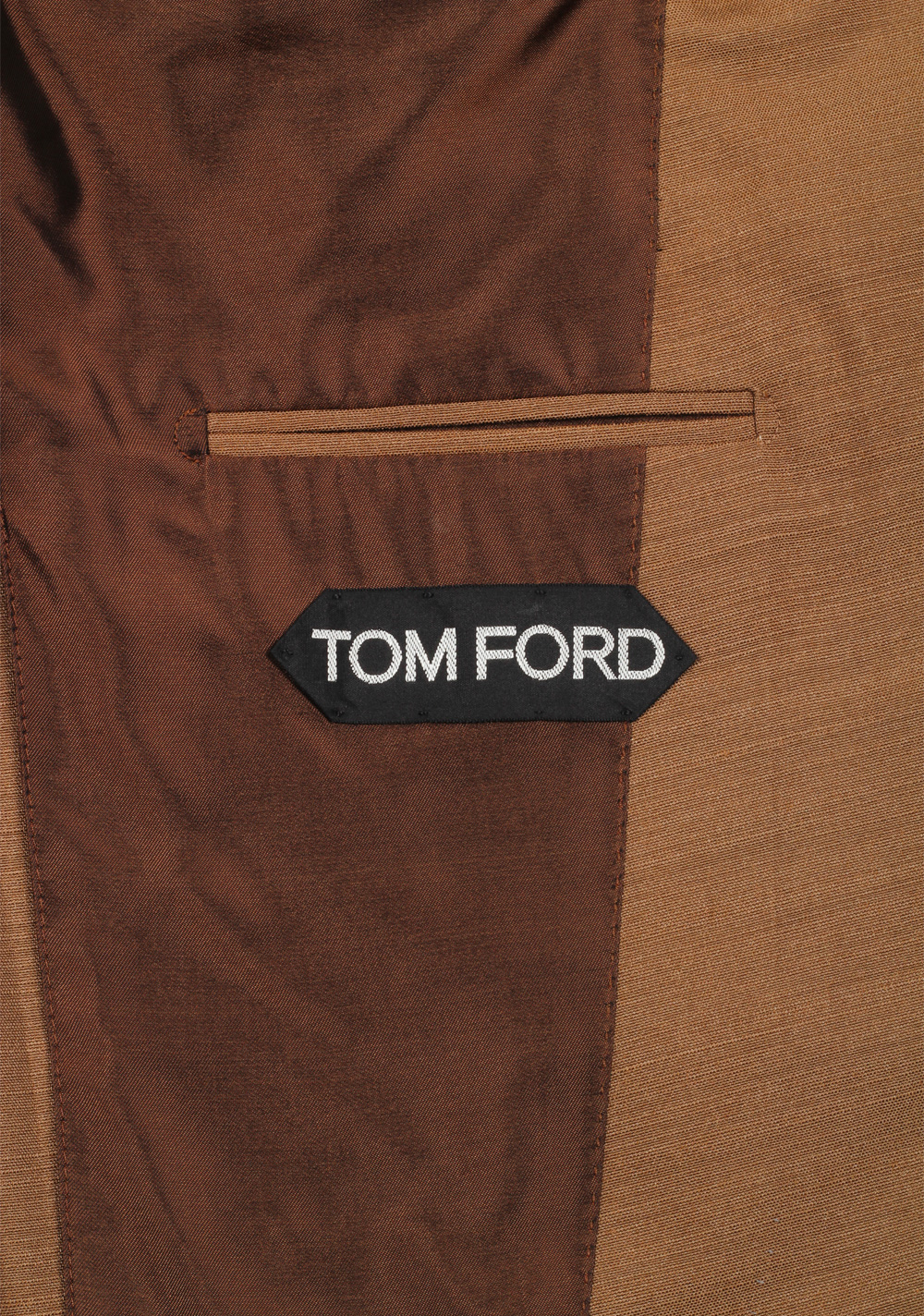 TOM FORD Atticus Brown Suit Size 46 / 36R U.S. In Silk | Costume Limité