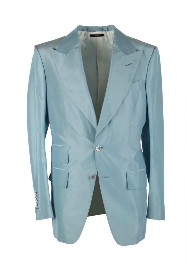 TOM FORD Buckley Blue Suit Size 46 / 36R U.S. Base V - thumbnail | Costume Limité