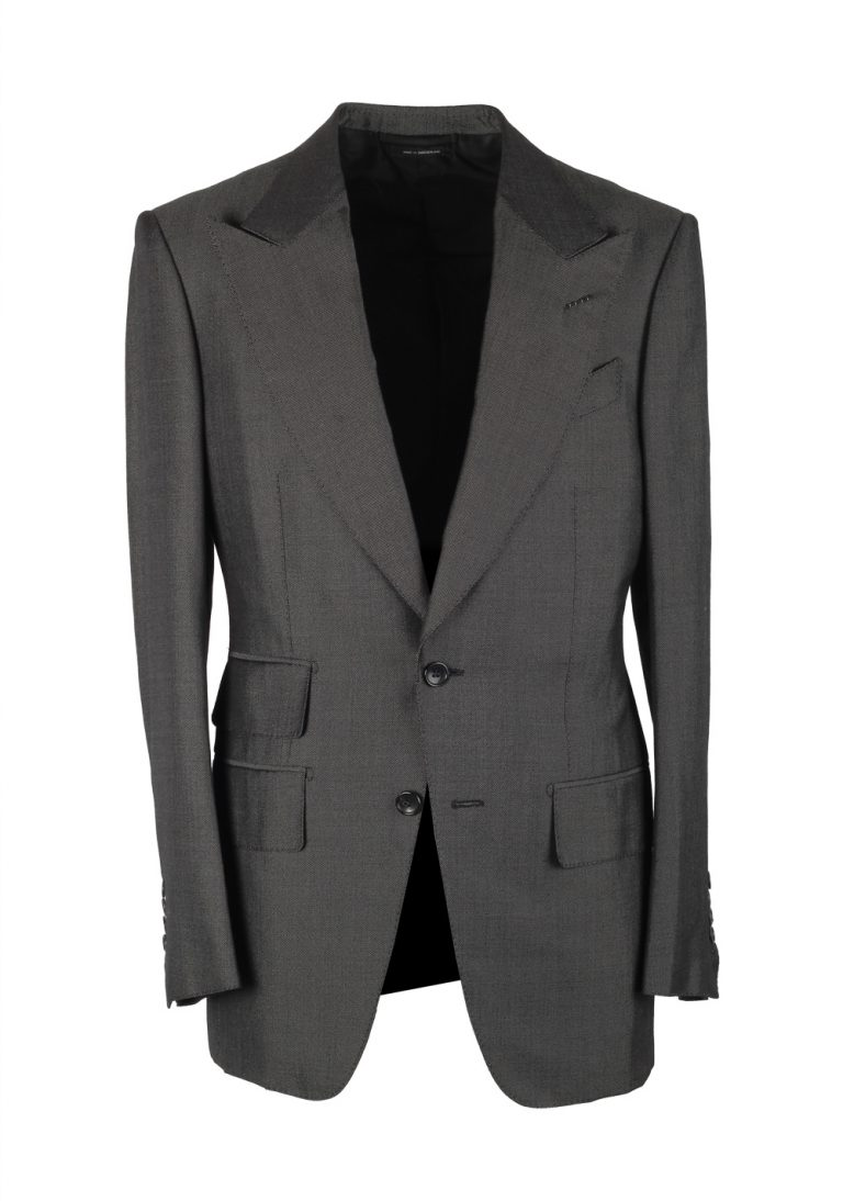 TOM FORD Buckley Gray Suit Size 46 / 36R U.S. Base V - thumbnail | Costume Limité