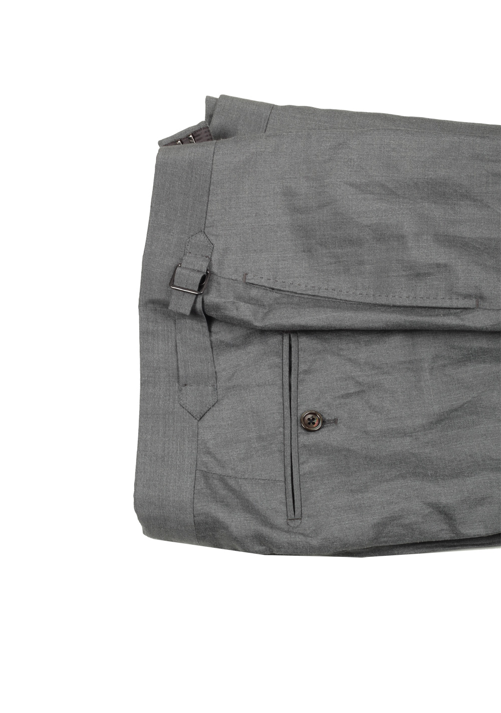 TOM FORD Shelton Gray Suit Size 46 / 36R U.S. In Linen Silk | Costume Limité