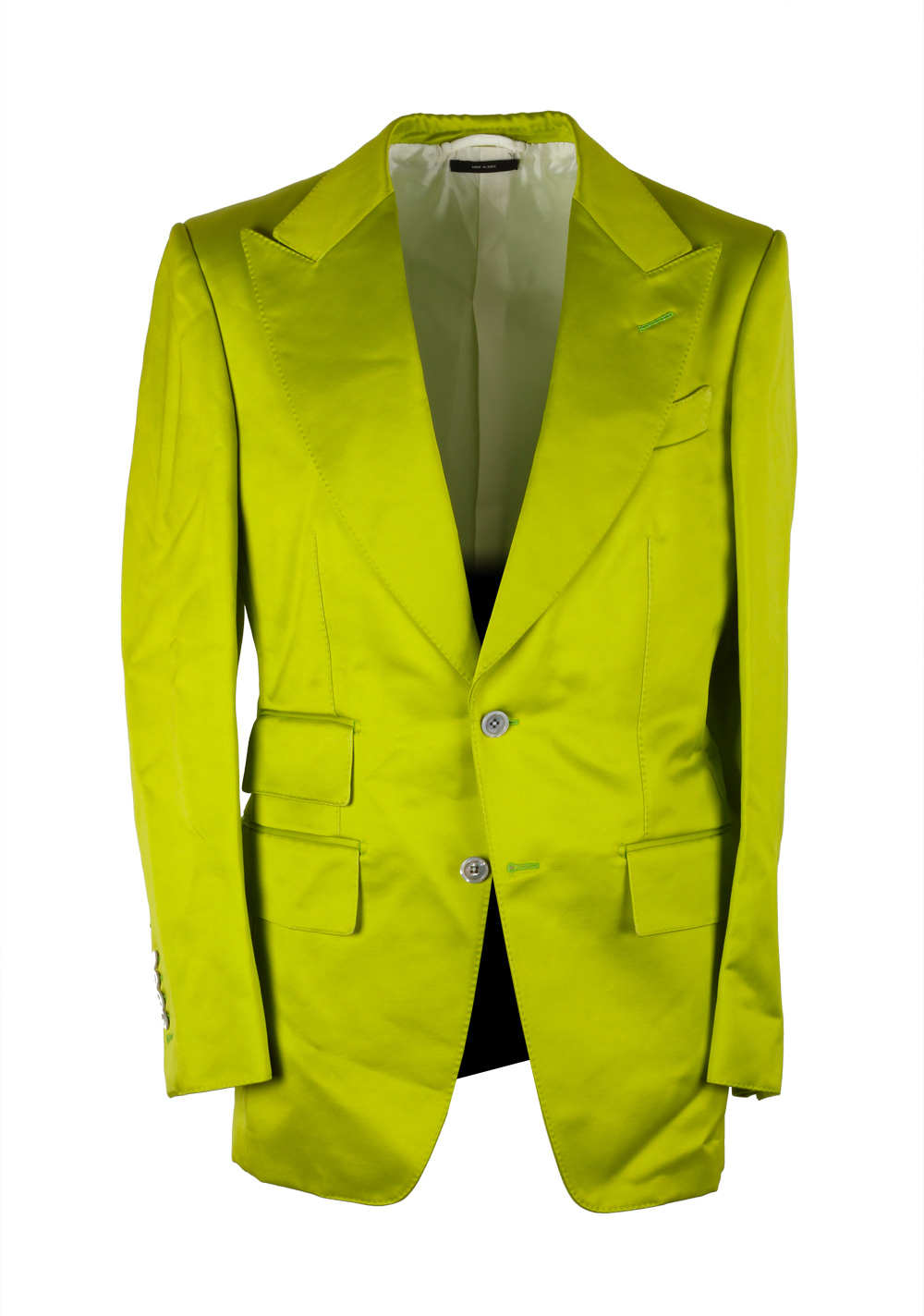 TOM FORD Buckley Green Suit Size 46 / 36R U.S. Base V | Costume Limité