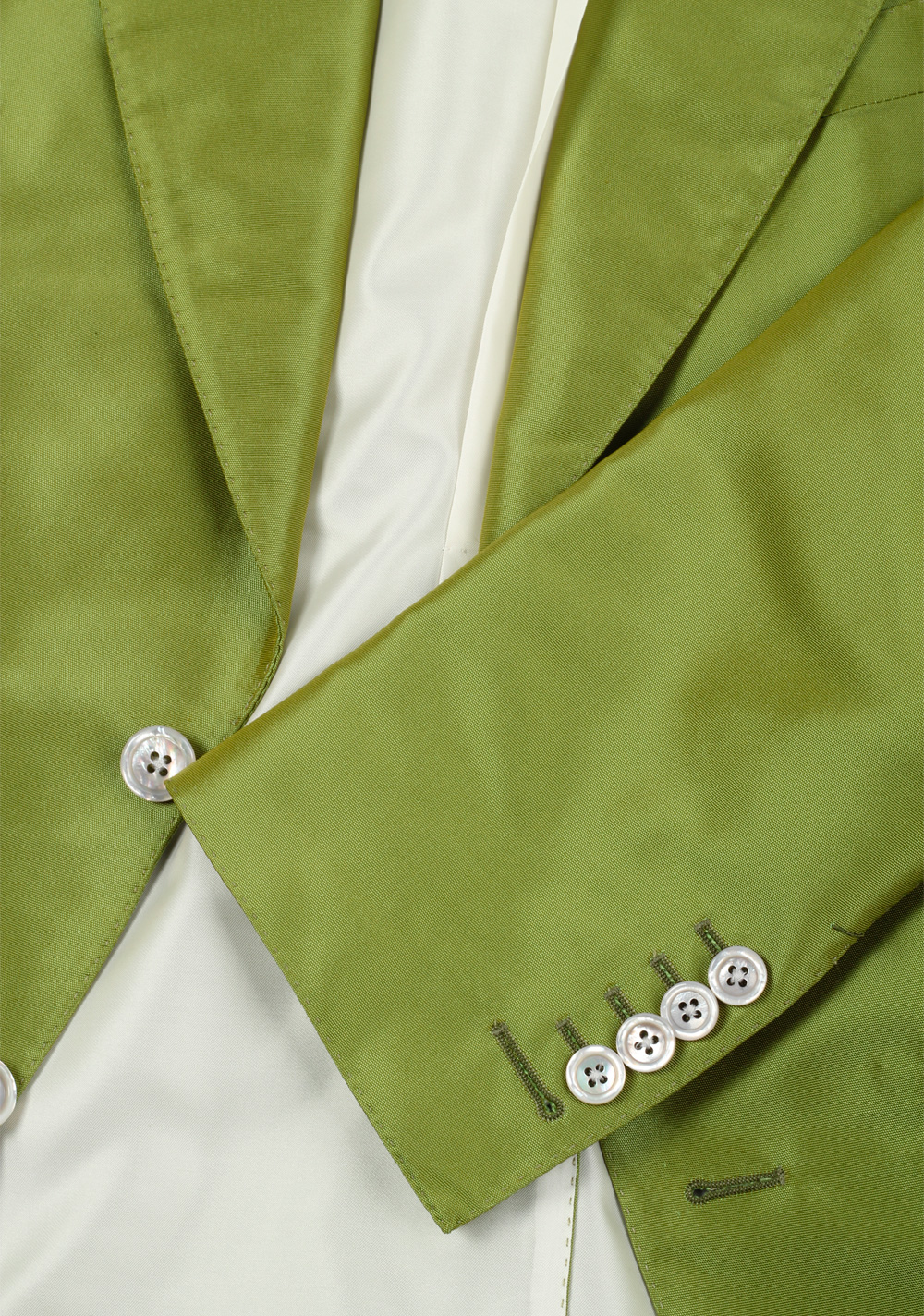 TOM FORD Basic Base M Green Suit Size 46 / 36R U.S. In Silk | Costume Limité