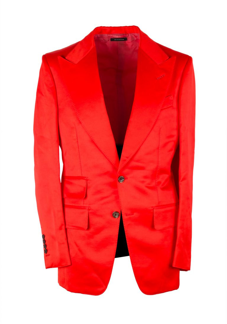 TOM FORD Basic Base M Red Suit Size 46 / 36R U.S. - thumbnail | Costume Limité