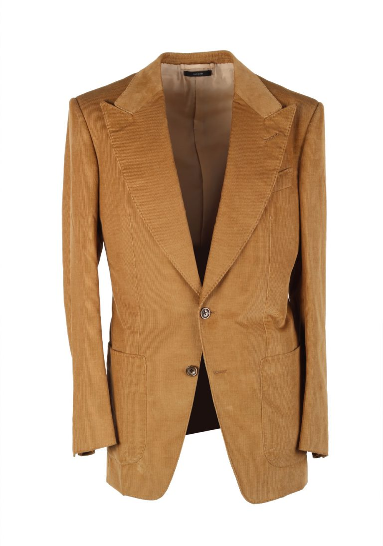 TOM FORD Atticus Brown Corduroy Suit Size 46 / 36R U.S. In Cotton Linen - thumbnail | Costume Limité