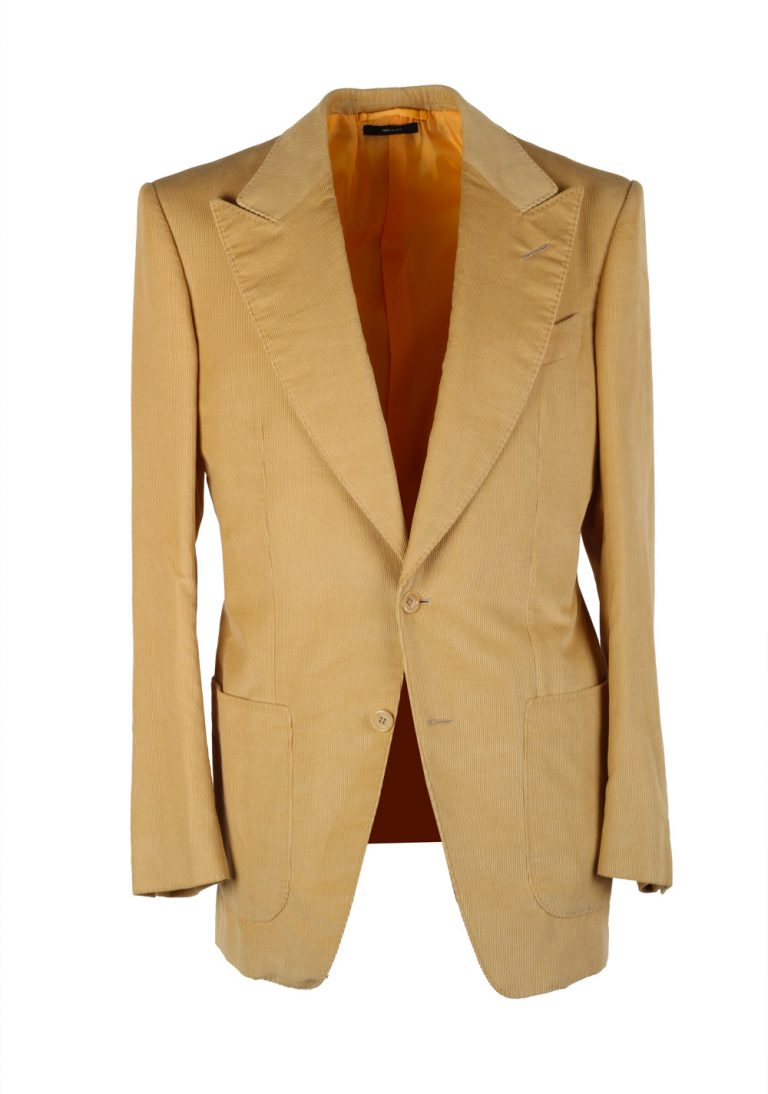 TOM FORD Atticus Sand Corduroy Suit Size 46 / 36R U.S. In Cotton Linen - thumbnail | Costume Limité