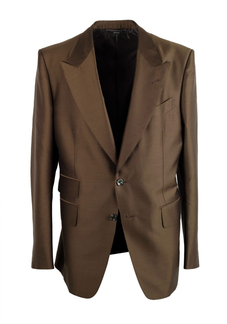 TOM FORD Shelton Brown Suit Size 50 / 40R U.S. - thumbnail | Costume Limité