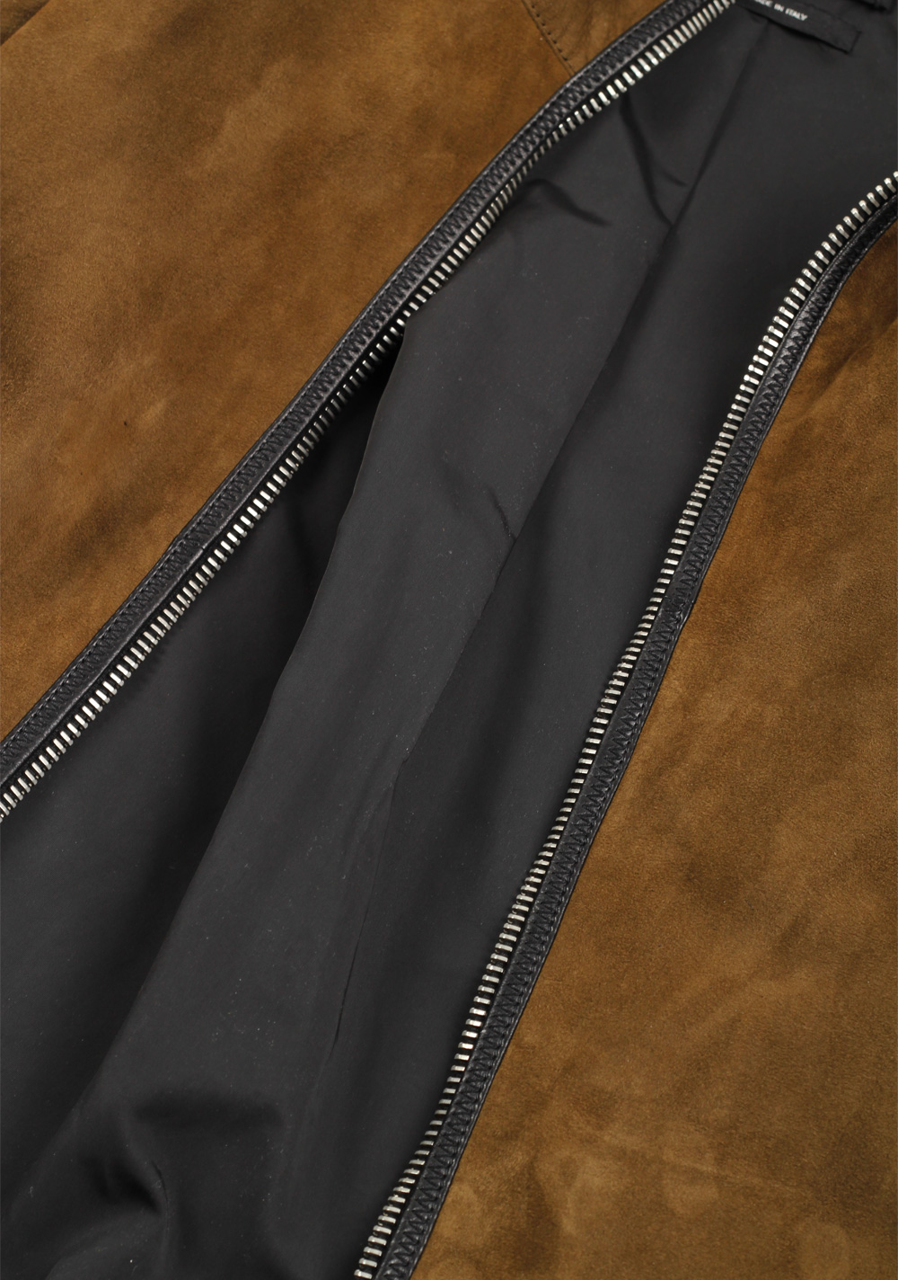 TOM FORD Brown Leather Suede Hooded Jacket Coat Size 48 / 38R U.S. | Costume Limité