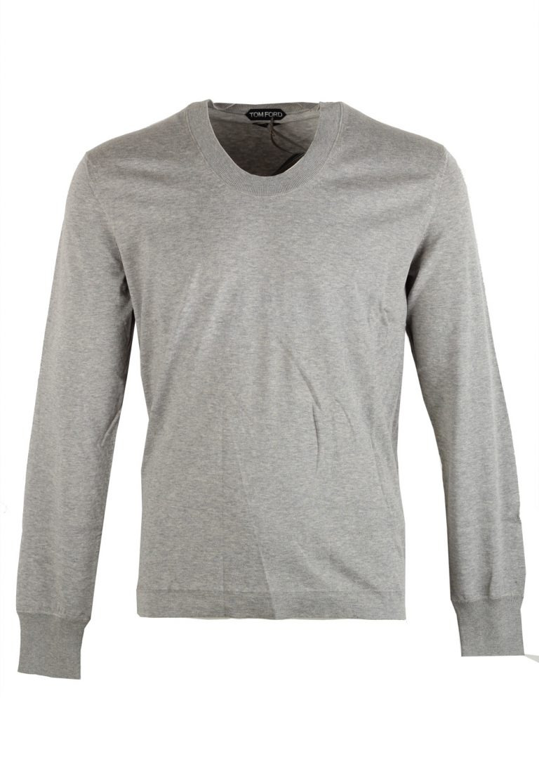 TOM FORD Gray Long Sleeve Shirt Size 48 / 38R U.S. In Cotton - thumbnail | Costume Limité