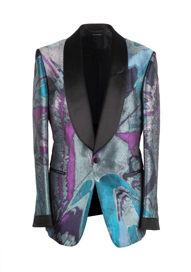 TOM FORD Shelton Tuxedo Dinner Jacket Size 48 / 38R U.S. In Silk - thumbnail   Costume Limité